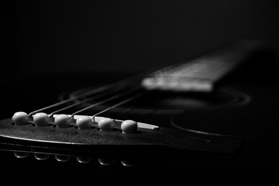 Acoustic Guitar Photograph By Allison Badely