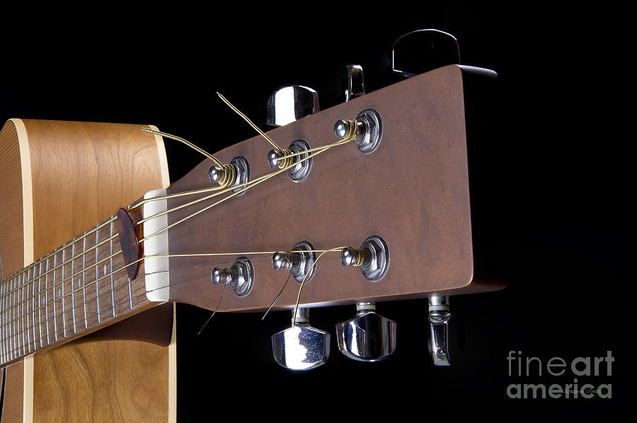 Acoustic Guitar Detail by Gordon Wood
