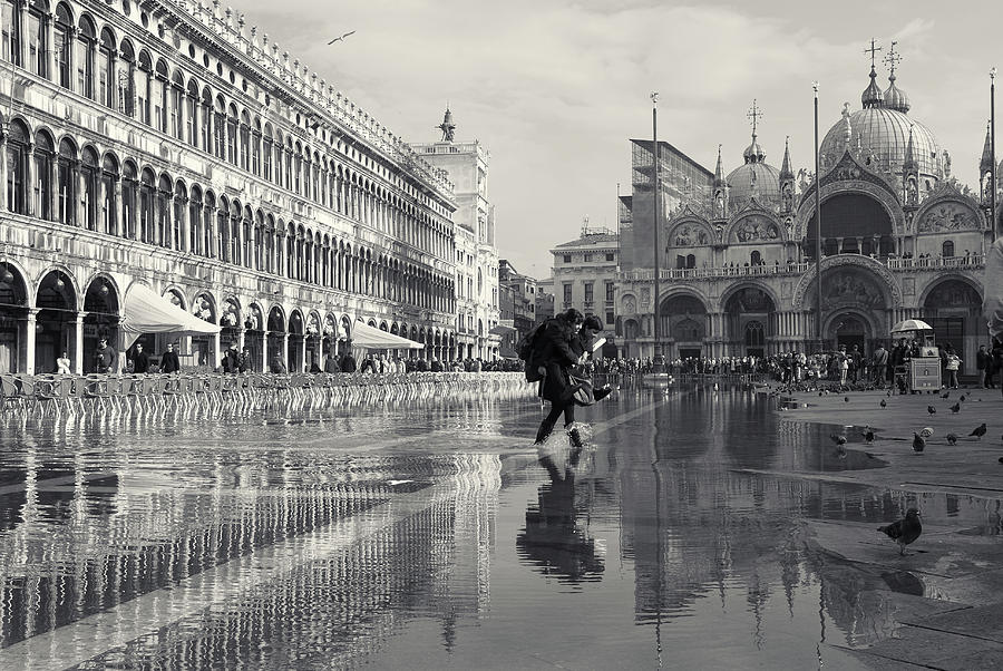 Acqua Alta, Piazza San Marco, Venice, Italy by Richard Goodrich