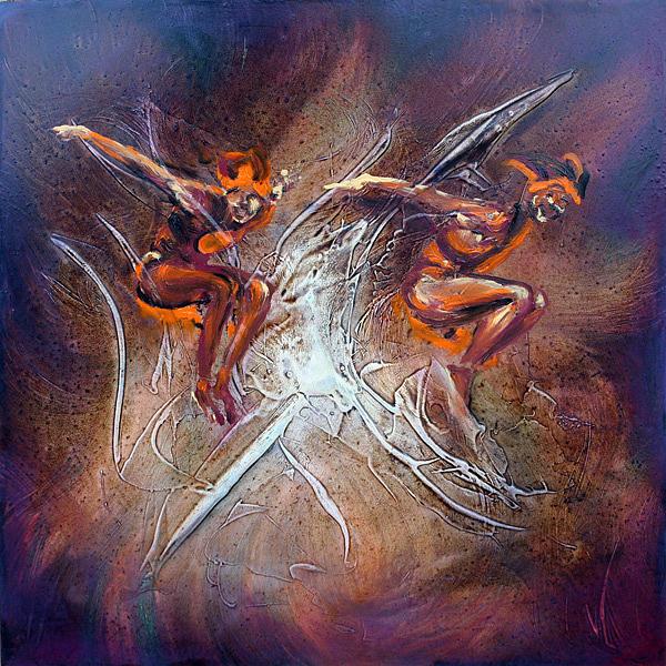 Acrobatics Painting by Chez Jumaqui