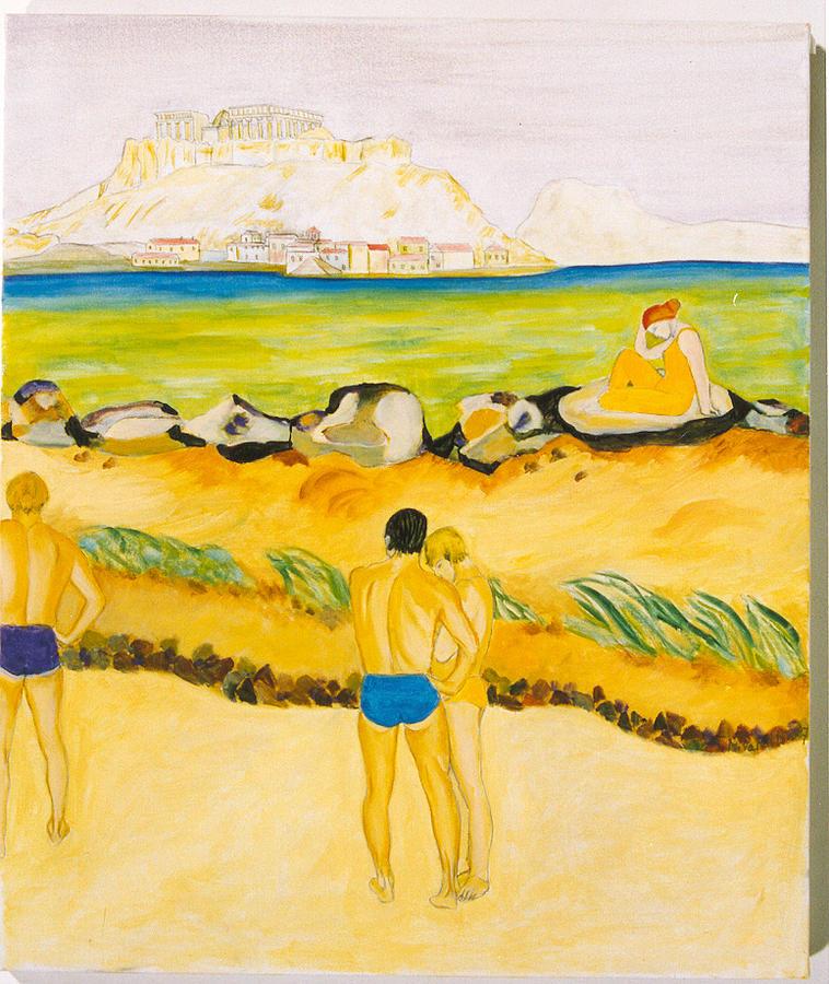 Landscape Painting - Acropole by Nadine Valentin