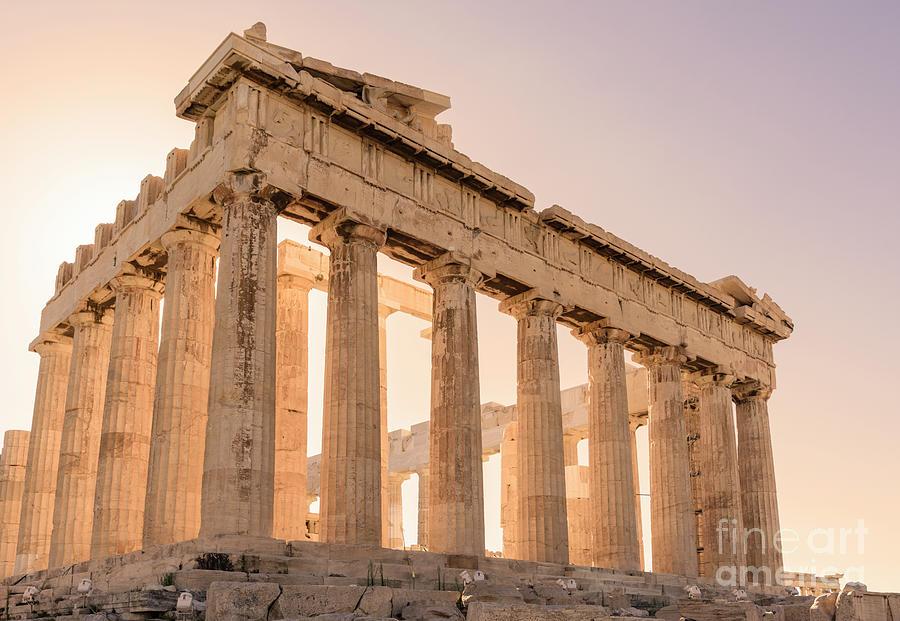 Acropolis Athens Photograph - Acropolis Parthenon At Sunset by Jason Knott