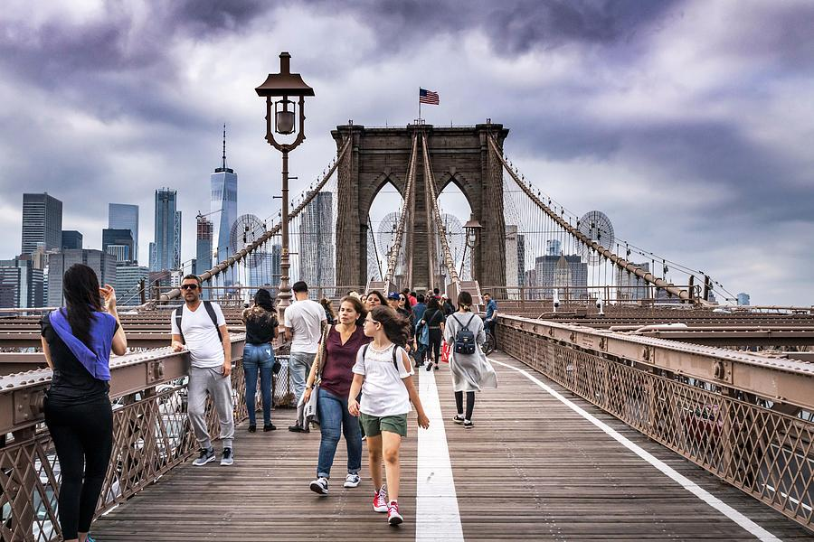 Across Brooklyn Bridge Photograph by Framing Places