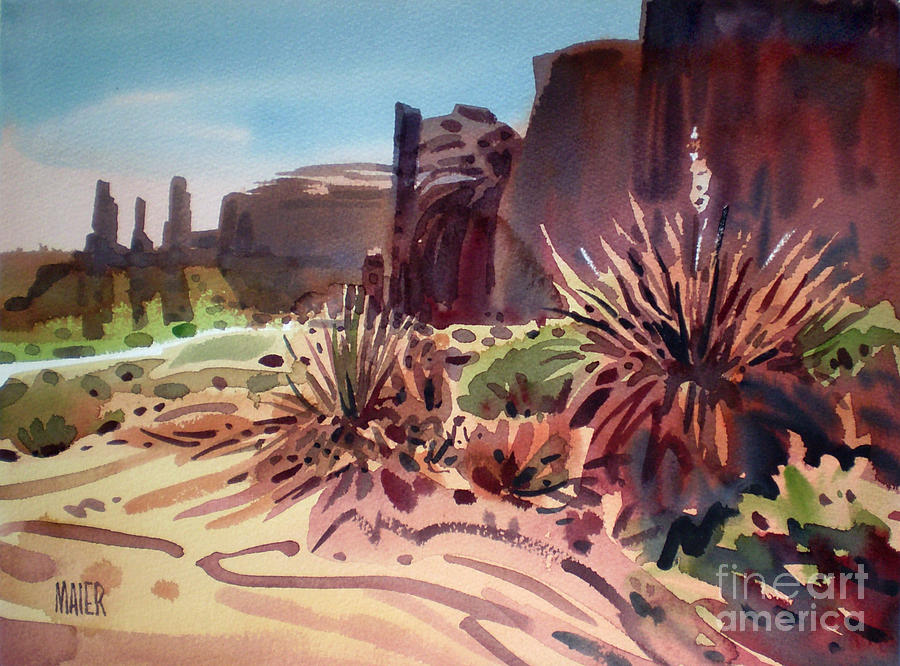 Monument Valley Painting - Across Monument Valley by Donald Maier