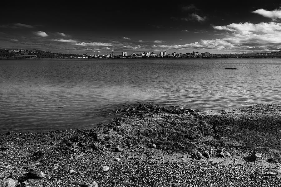 Across The Bay-bw Photograph