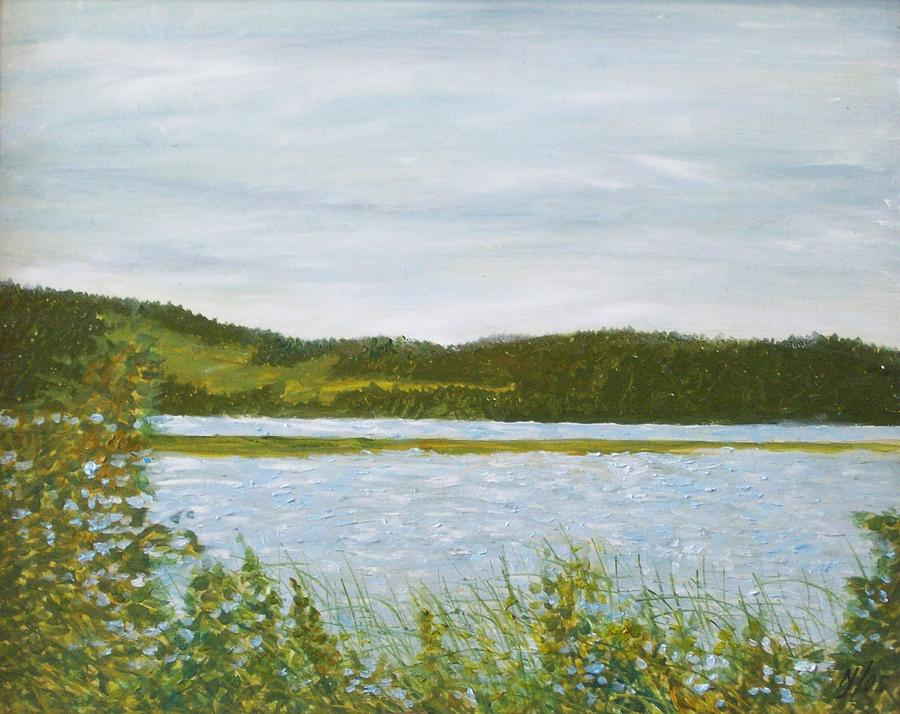 Lake Painting - Across The Belleisle by Norman F Jackson