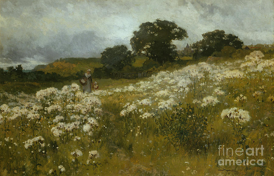 Field Painting - Across The Fields by John Mallord Bromley