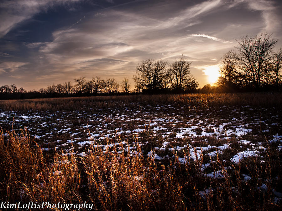 Winter Photograph - Across The Frozen Fields  by Kim Loftis
