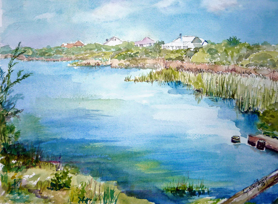 Lake Painting - Across The Lake by Dorothy Herron