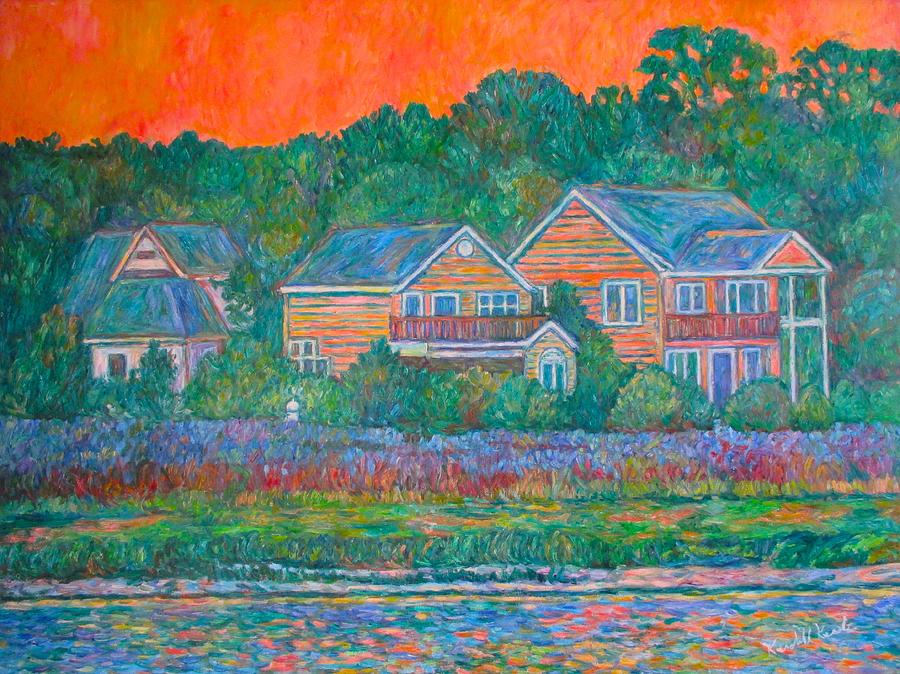 Landscape Painting - Across The Marsh At Pawleys Island       by Kendall Kessler