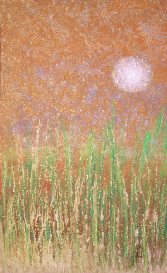Marsh Painting - Across The Marsh by Steve Ellis