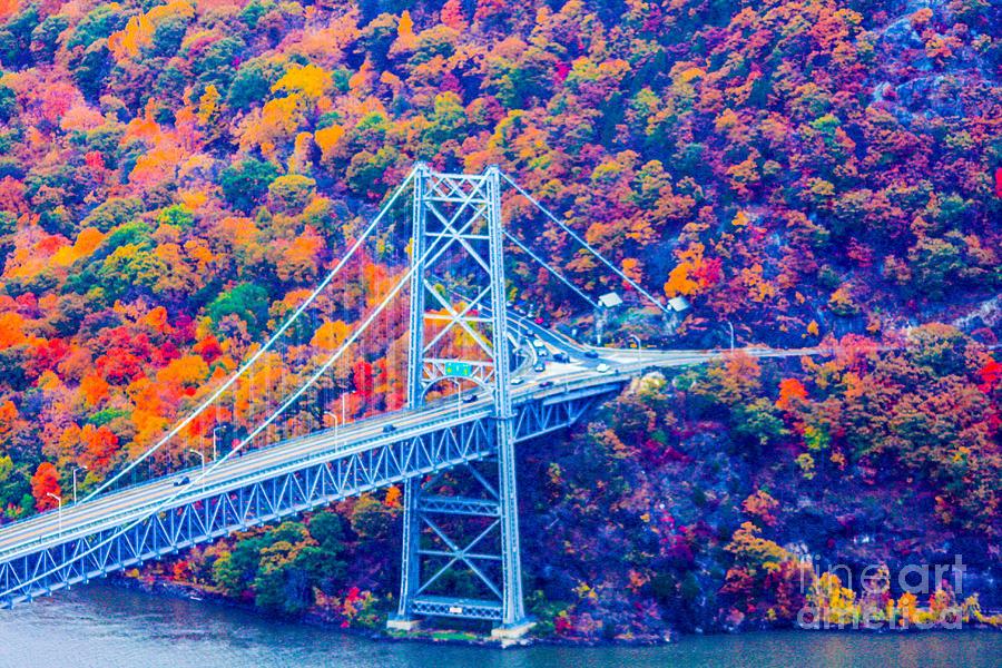 Bear Mountain Bridge Photograph - Across The Other Side Of Bear Mountain Bridge by William Rogers