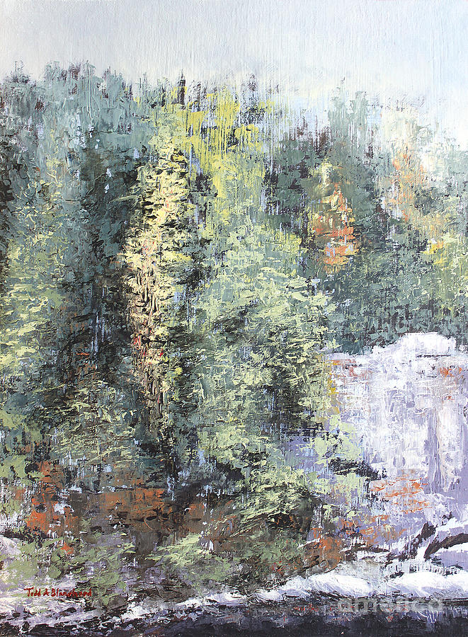 Landscape Painting - Across The Ravine by Todd Blanchard