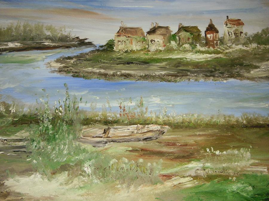 Landscape Painting - Across The River by Edward Wolverton