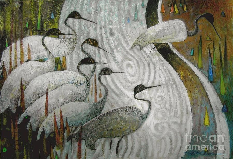 Wildlife Painting - Across The Stream by Joe Chen