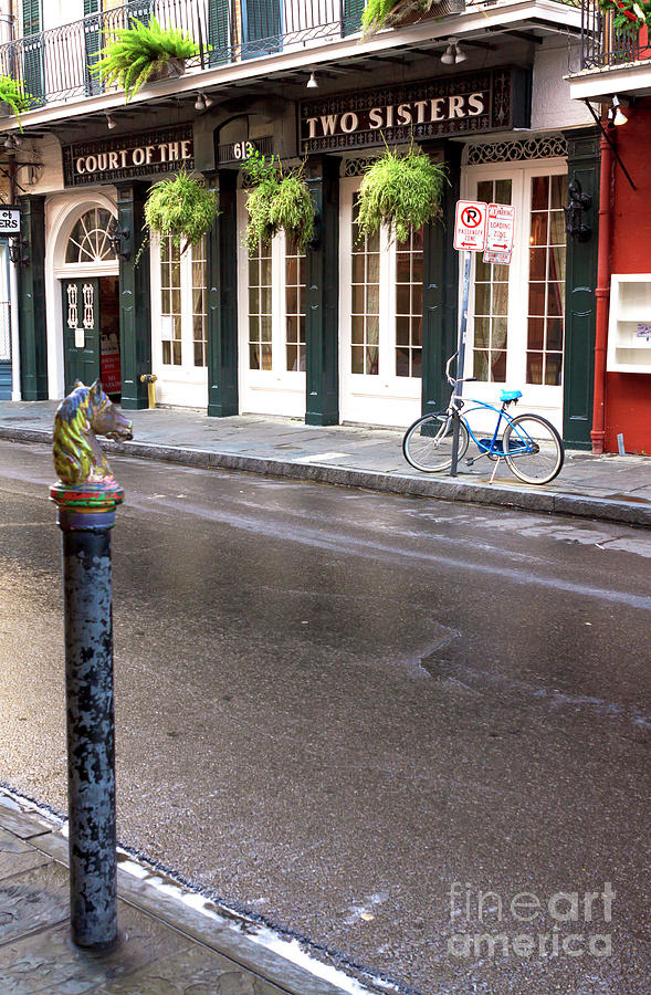 Across The Street Photograph - Across The Street In The French Quarter by John Rizzuto