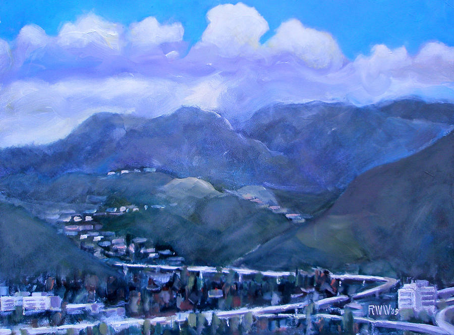 Los Angeles Painting - Across The Verdugo Hills by Richard  Willson