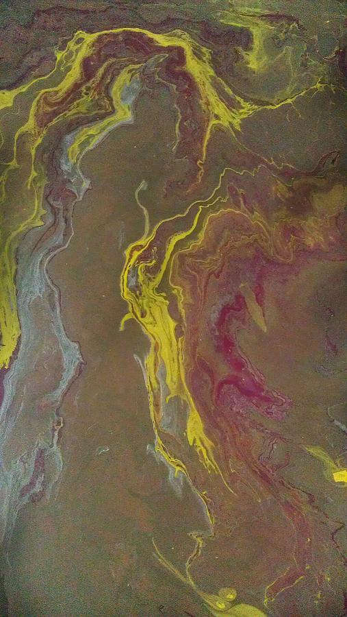 Abstract Painting - Acrylic Pour 2855 by Sonya Wilson
