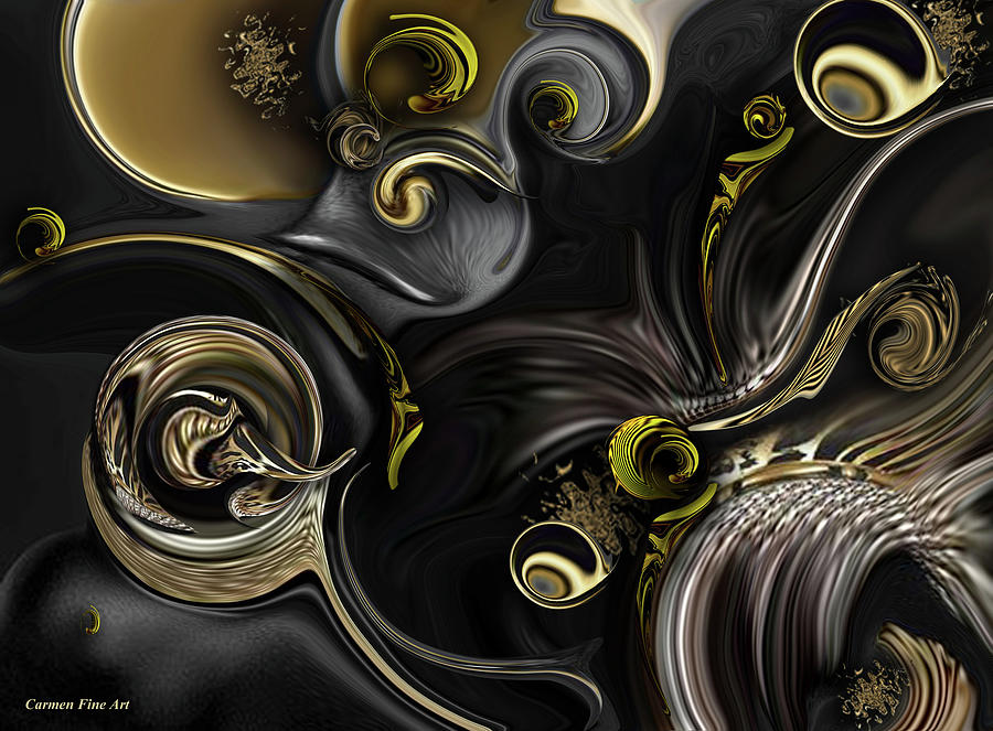Act Digital Art - Act Including Instant Creation by Carmen Fine Art