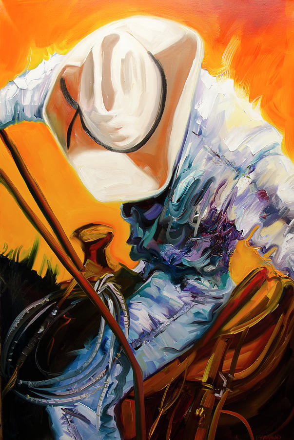 Rodeo Painting - Action Jackson by Diane Whitehead