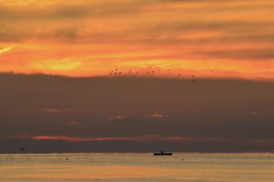 Abstract Photograph - Activity On Lake Simcoe  by Lyle Crump