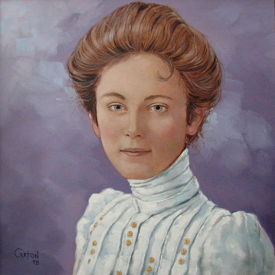 Posthumous Portrait Painting - Ada Douglas by Jerrold Carton