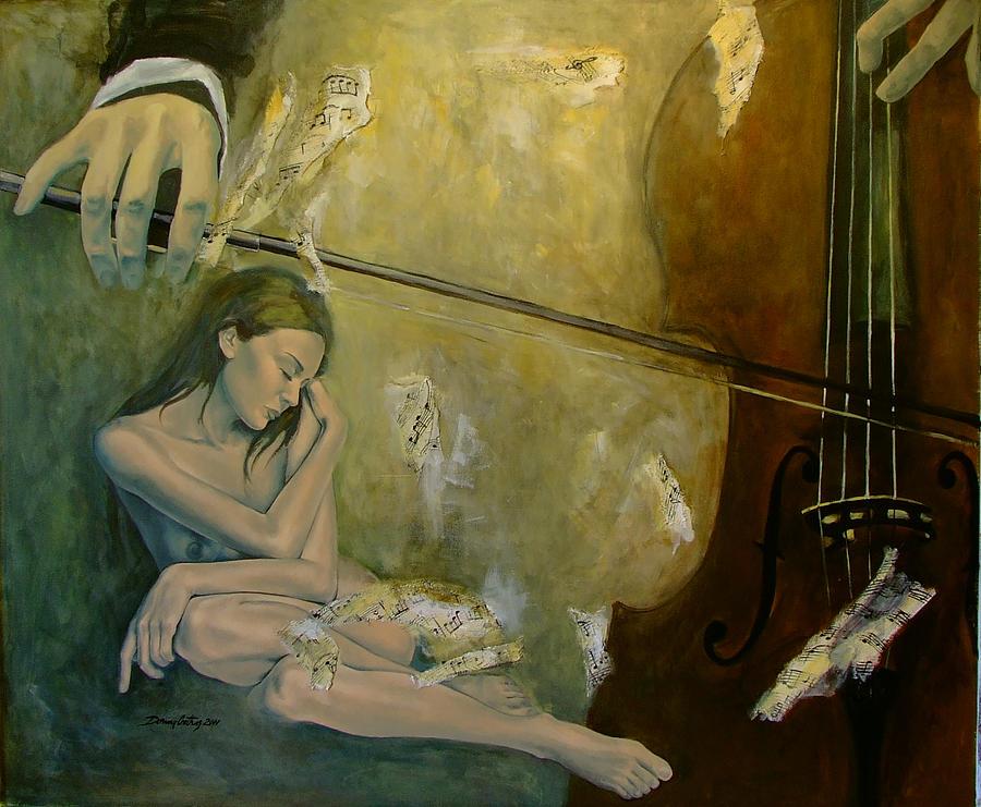 Nude Painting - Adagio  Sentimental Confusion by Dorina  Costras