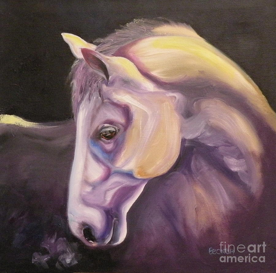 Horse Painting - Adagio by Susan A Becker