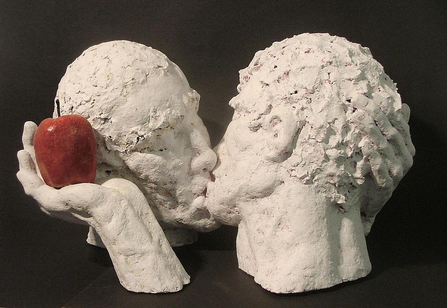 Papier Mache Sculpture - Adam And Adam by Gary Kaemmer