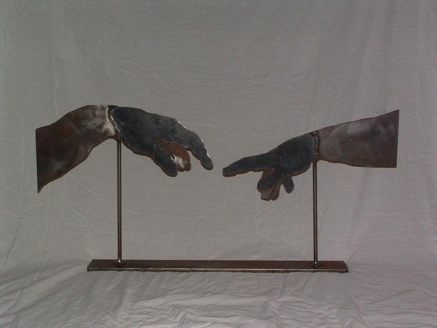 Steel Sculpture - Adam Creation by Buzz Ferrell