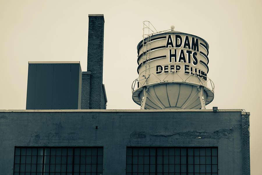 America Photograph - Adam Hats - Deep Ellum Architecture - Dallas Sepia Edition by Gregory Ballos
