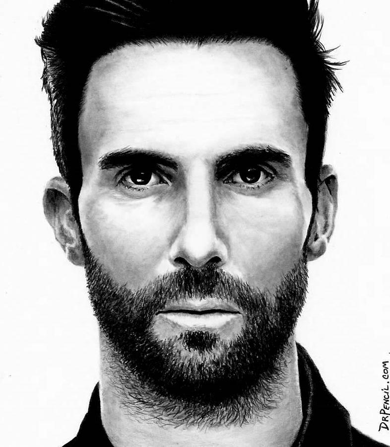 Adam Levine Drawing - Adam Levine by Rick Fortson