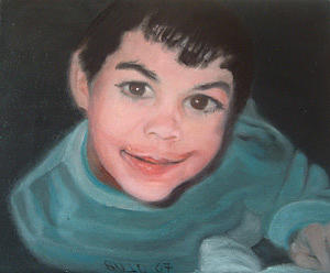Adam Painting by Lyne Bujold