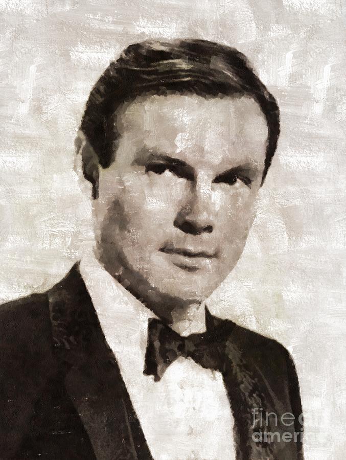 Adam West, Vintage Actor Painting