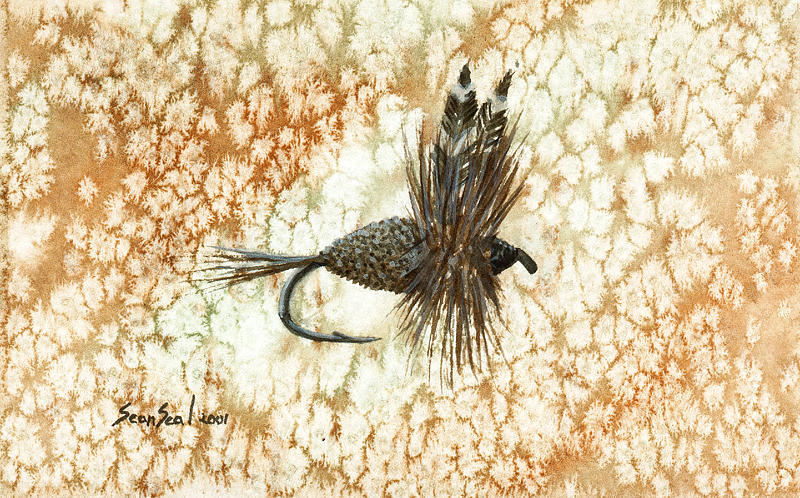 Fishing Fly Painting - Adams Irresistibile by Sean Seal