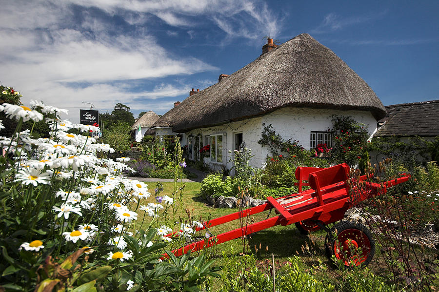 Adare thatch roof cottages ireland photograph by pierre for Adare house