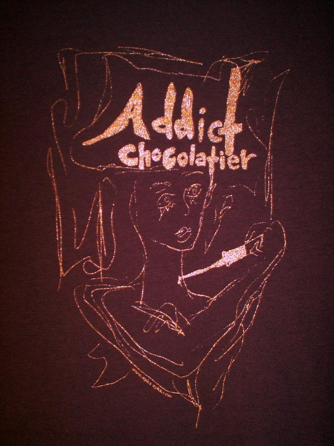 Dark Chocolate Drawing - Addict Chocolatier by Ayka Yasis