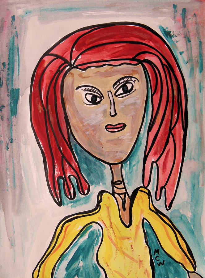 Girl Painting - Addie- Noble And Kind by Mary Carol Williams
