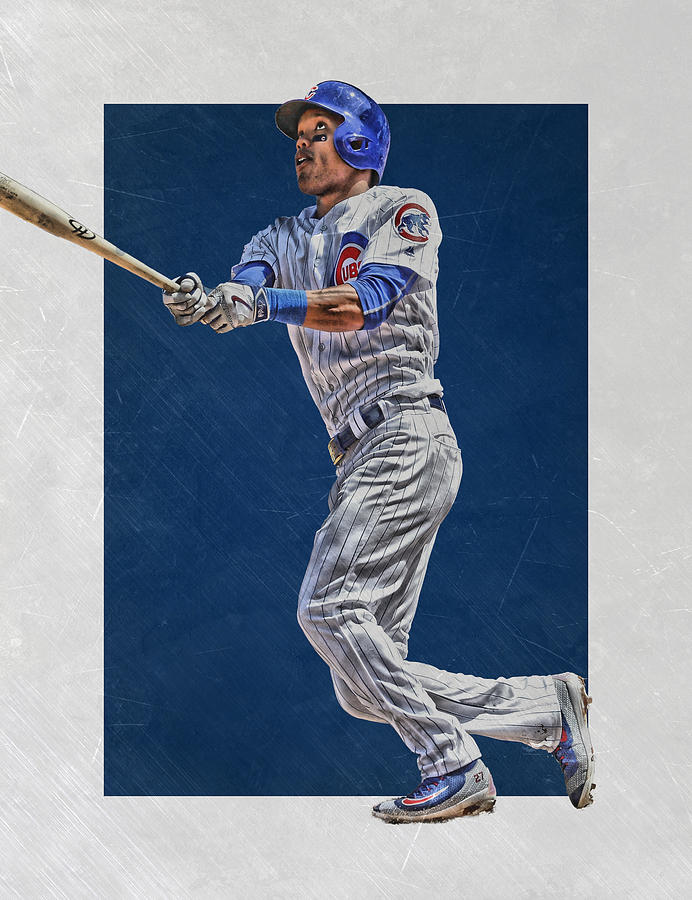 Addison Russell Mixed Media - Addison Russell Chicago Cubs Art by Joe Hamilton