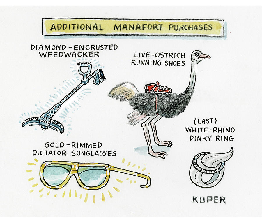 Additional Manafort Purchases Drawing by Peter Kuper