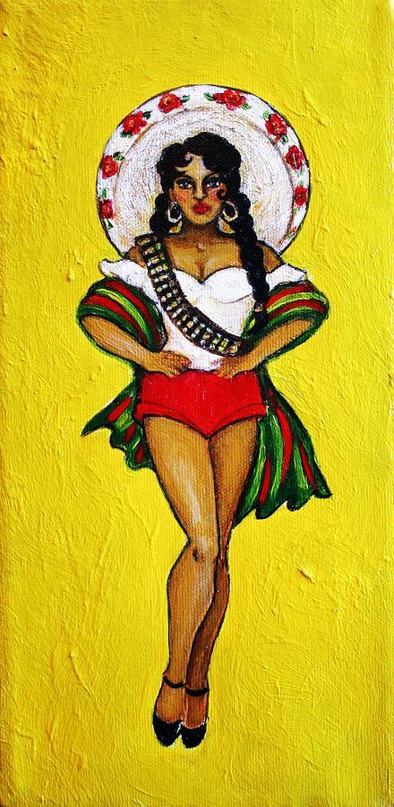 Figurative Painting - Adelita by Ci Ci Segura Gonzalez