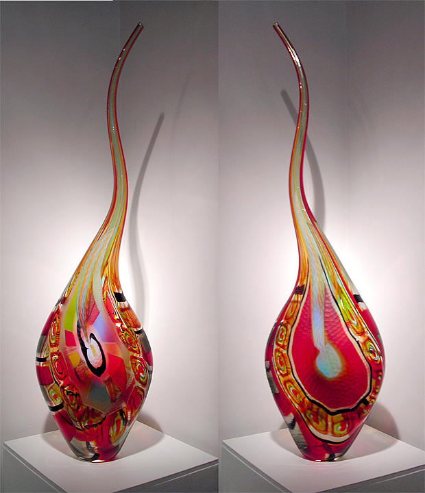 Contemporary Glass Sculpture - Aderisco by Afro Celotto