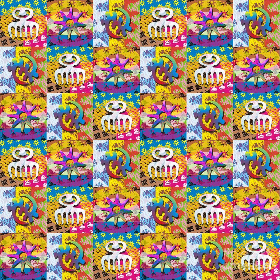 adinkra quilt 1 digital art by walter oliver neal
