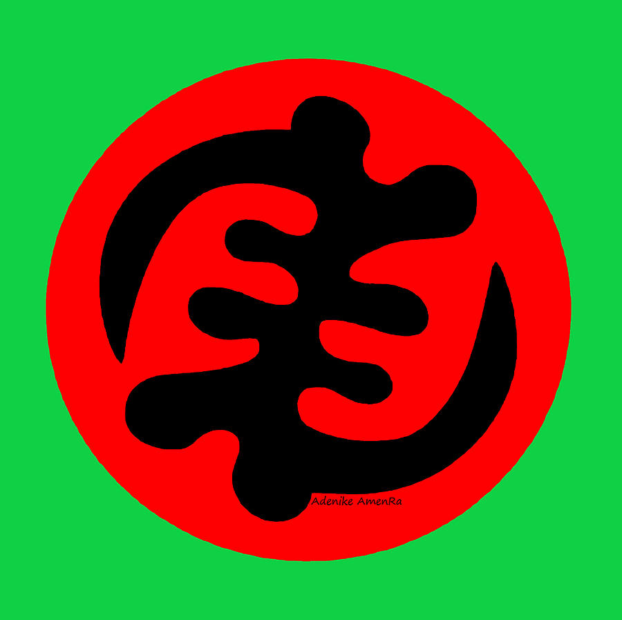 Adinkra Symbol Gye Nyame Except God Only God Digital Art By Adenike