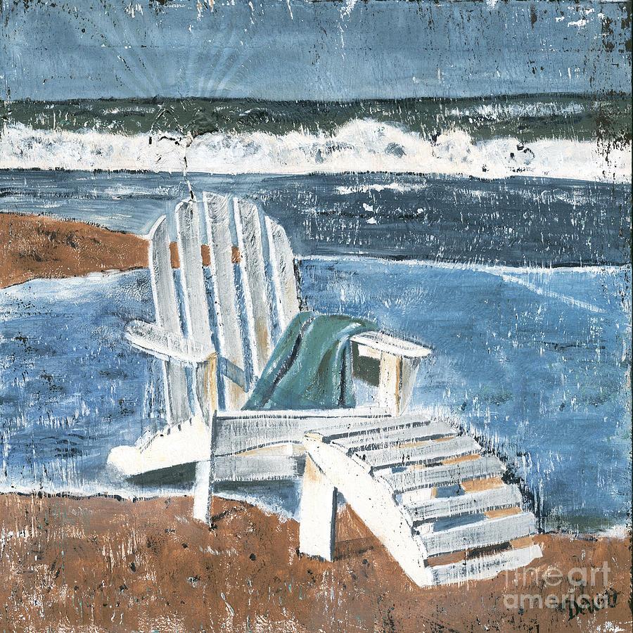 Adirondack Chair Painting by Debbie DeWitt