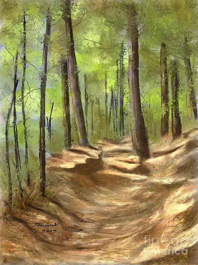 Adirondack Painting - Adirondack Hiking Trails by Judy Filarecki