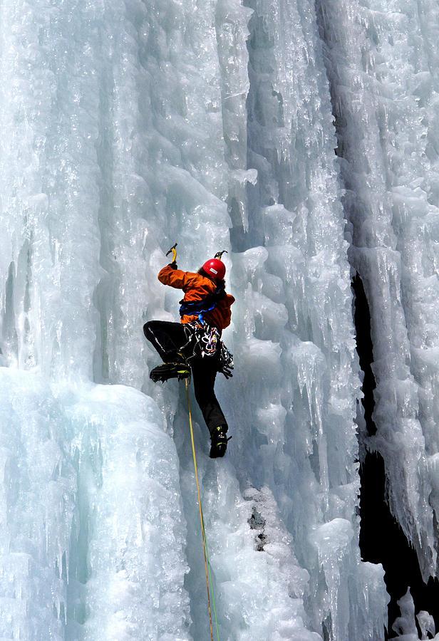Adirondacks Photograph - Adirondack Ice Climber  by Brendan Reals