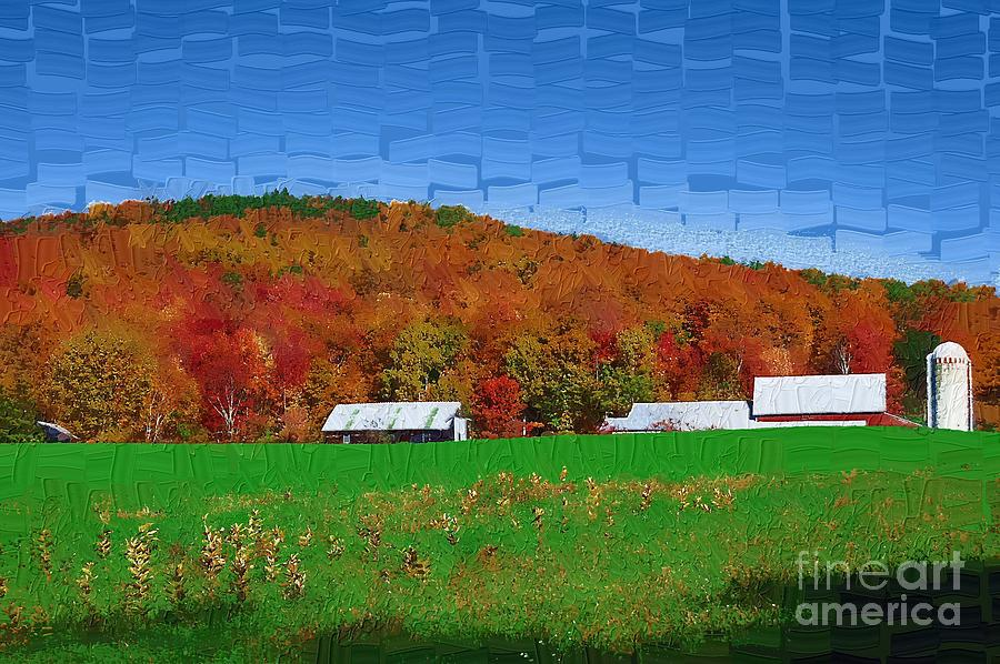 Berry Painting - Adirondack Rural by Diane E Berry