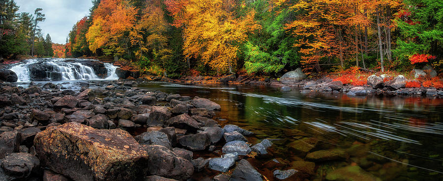 Adirondacks Buttermilk Falls by Mark Papke