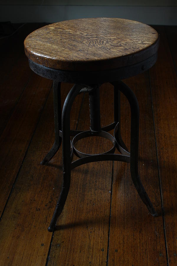 Stool Photograph - Adjustable Workbench Stool by Paul Borden & Adjustable Workbench Stool Photograph by Paul Borden islam-shia.org